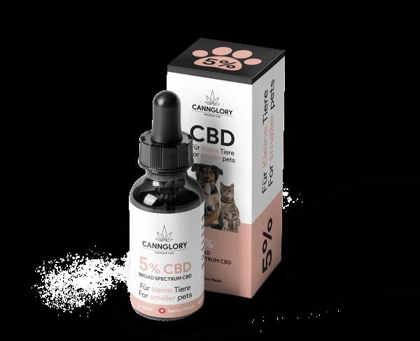 CBD Öl 5% Für Kleine Tiere bis zu 10 kg